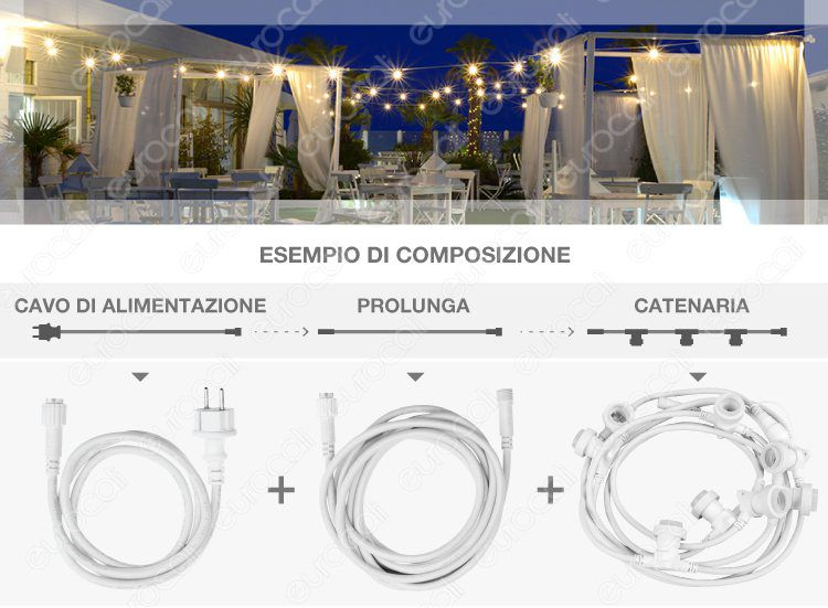 Catenaria Lampadina LED E27