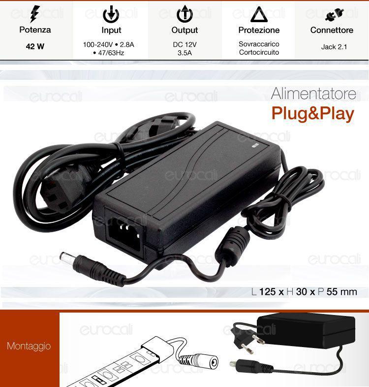 alimentatore v-tac plug and play