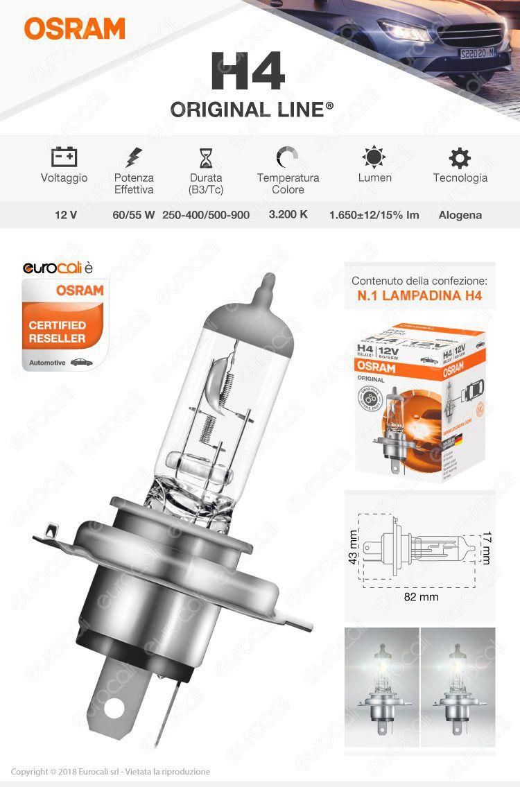 lampadina osram original h4