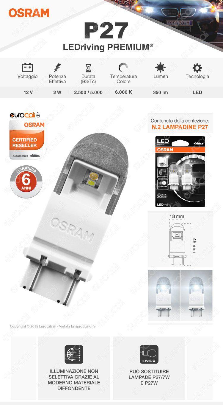 lampadina osram LEDriving premium p27/7w