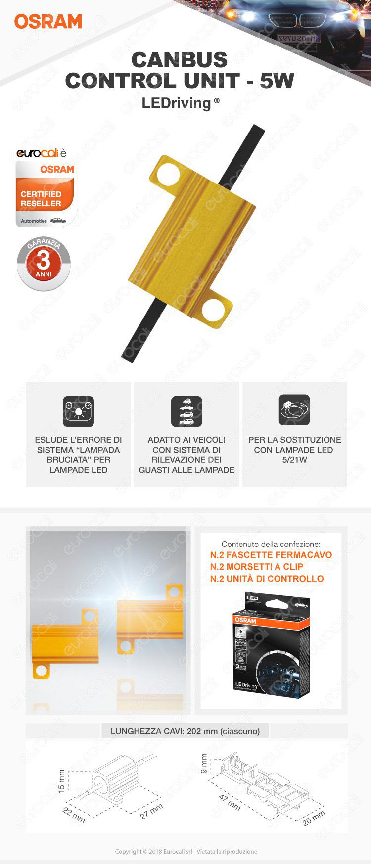 lampadina osram LEDriving premium canbus control unit