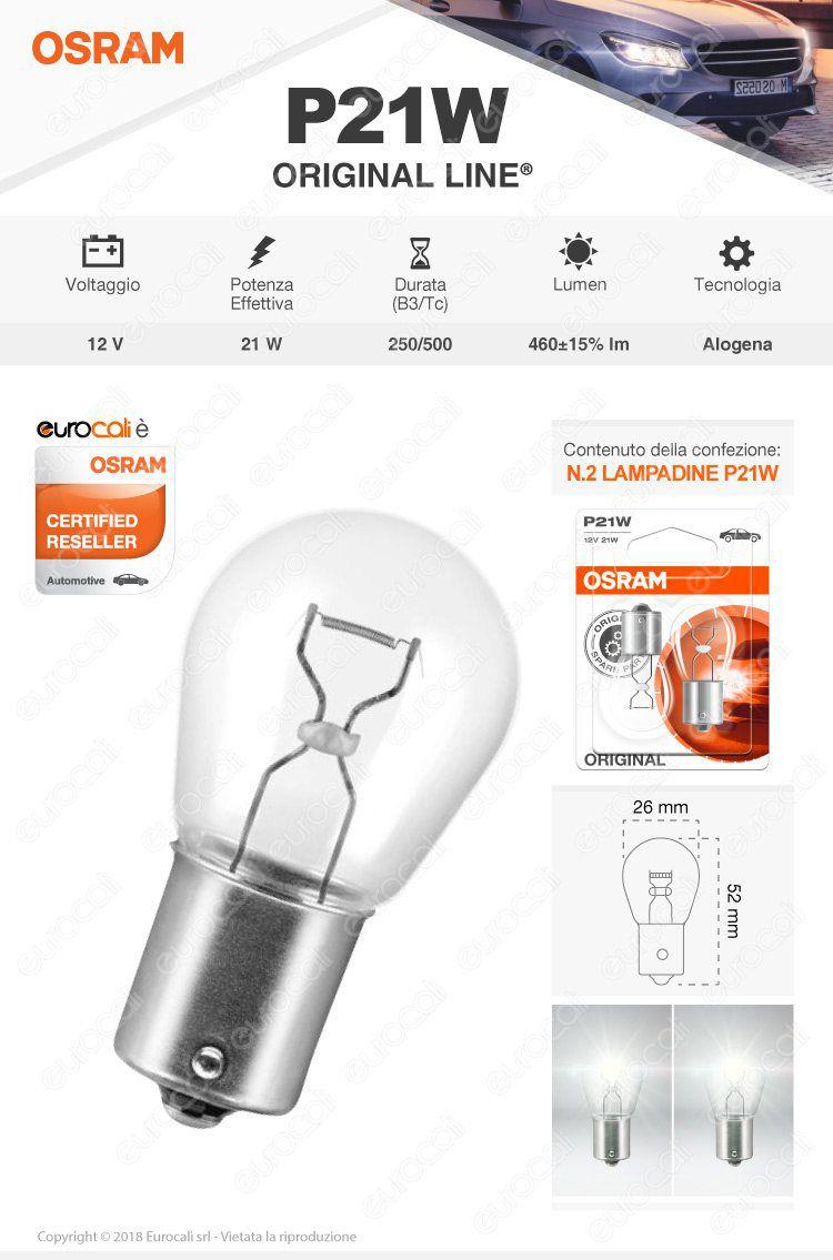 lampadina osram original p21w