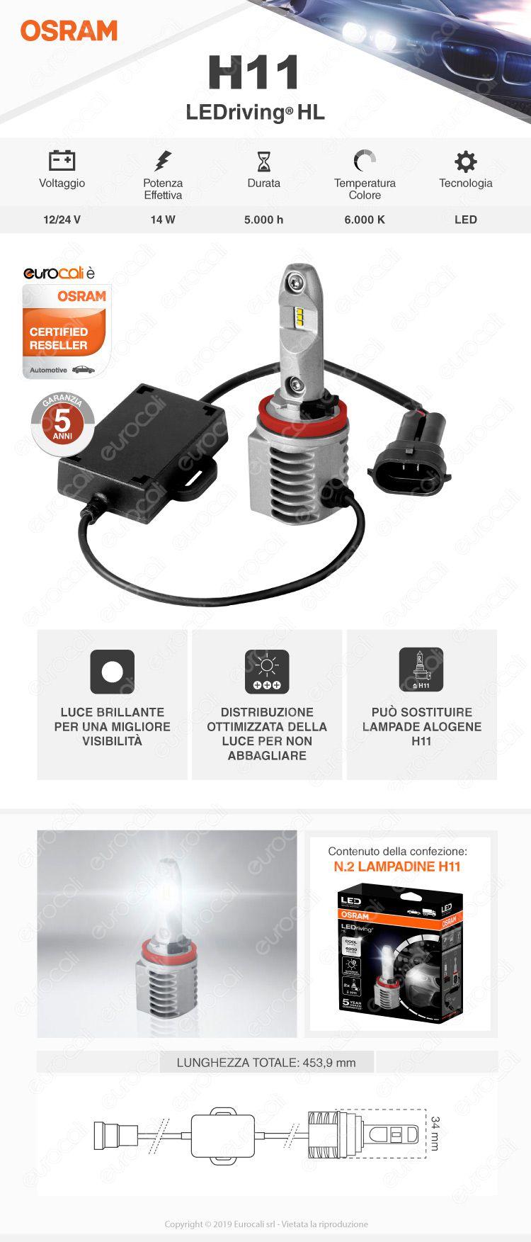 2 Lampadine H11 Osram LEDriving HL