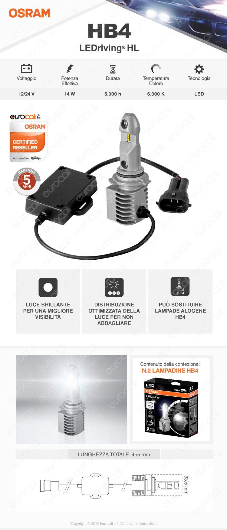 2 Lampadine HB4 Osram LEDriving HL