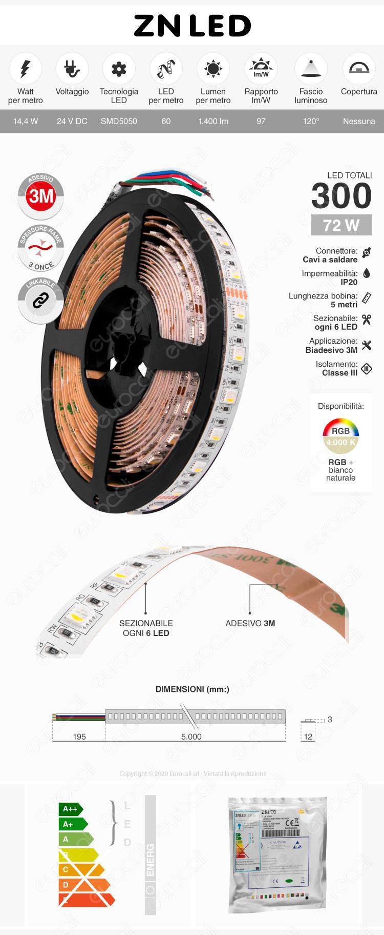ZNLed Striscia LED RGB+W