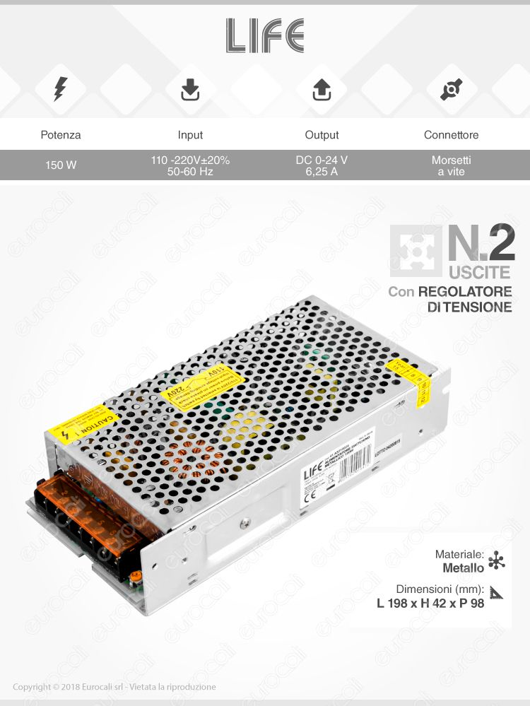 Alimentatore 24V life per strisce led