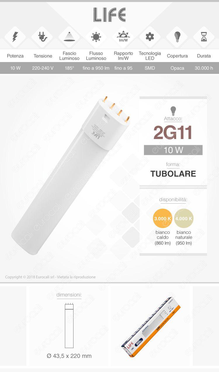 Life Lampadina LED 2G11 4pin