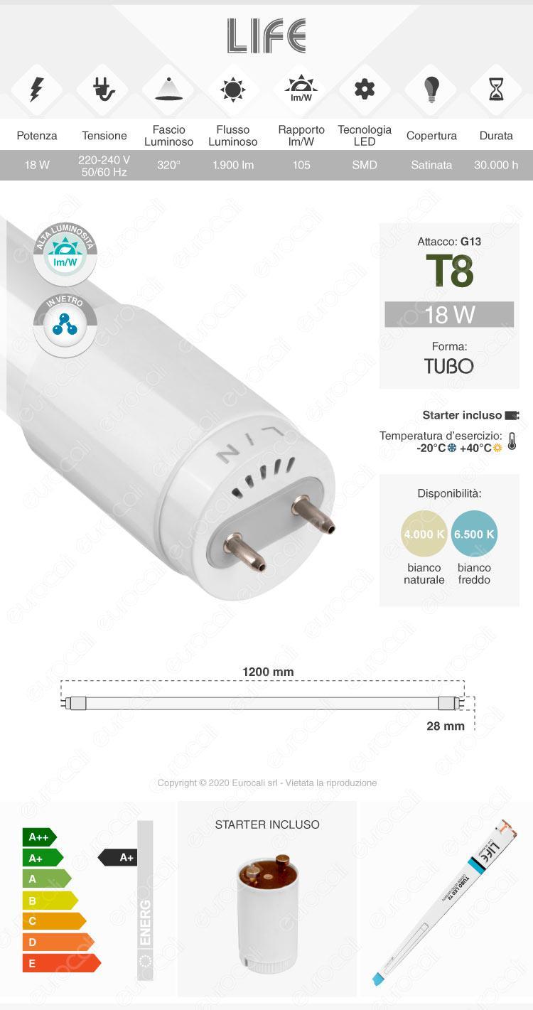 Tubo led t8 g13 life electronics