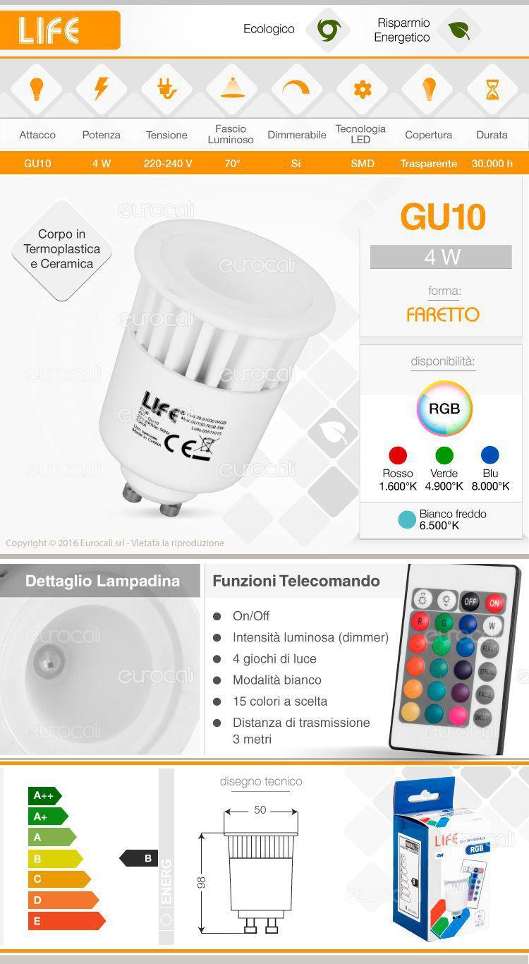 Faretto Life RGB con telecomando