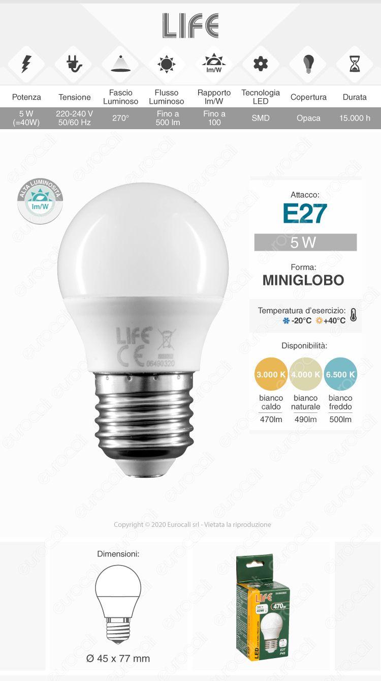 Lampadina LED Bulb Life E27