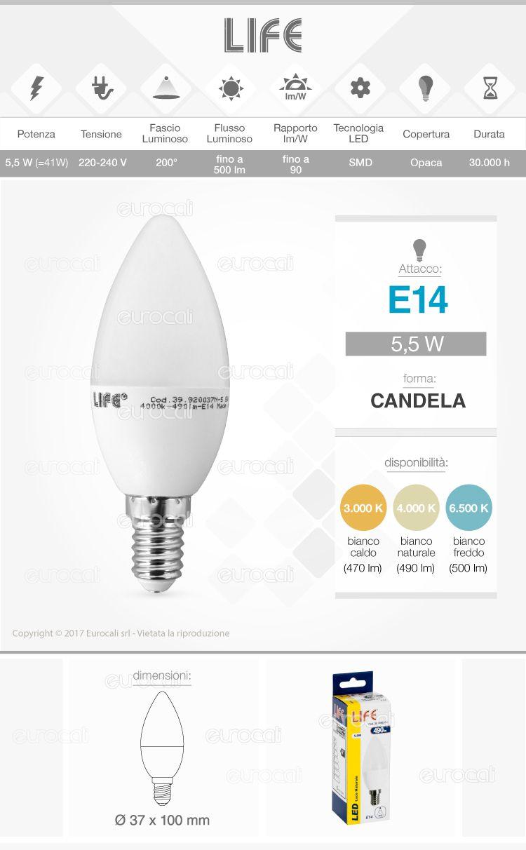 Lampadina LED Bulb Life E14