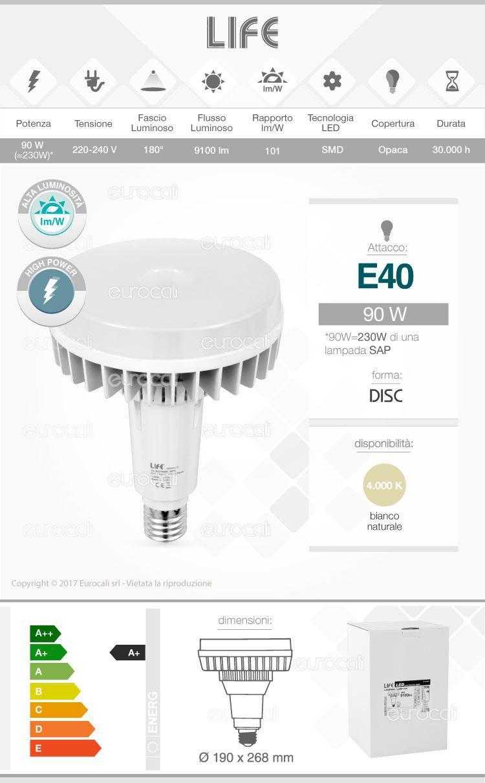 Lampadina LED Life E27