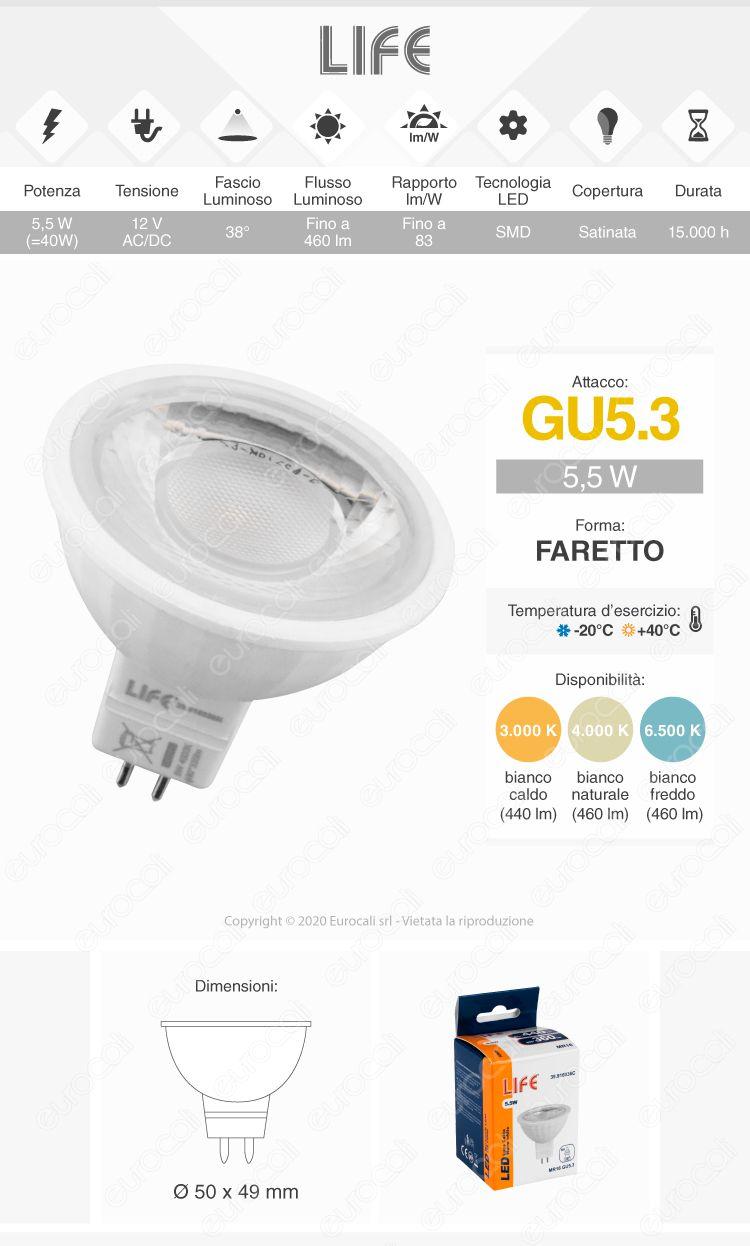 Life Lampadina LED GU5.3