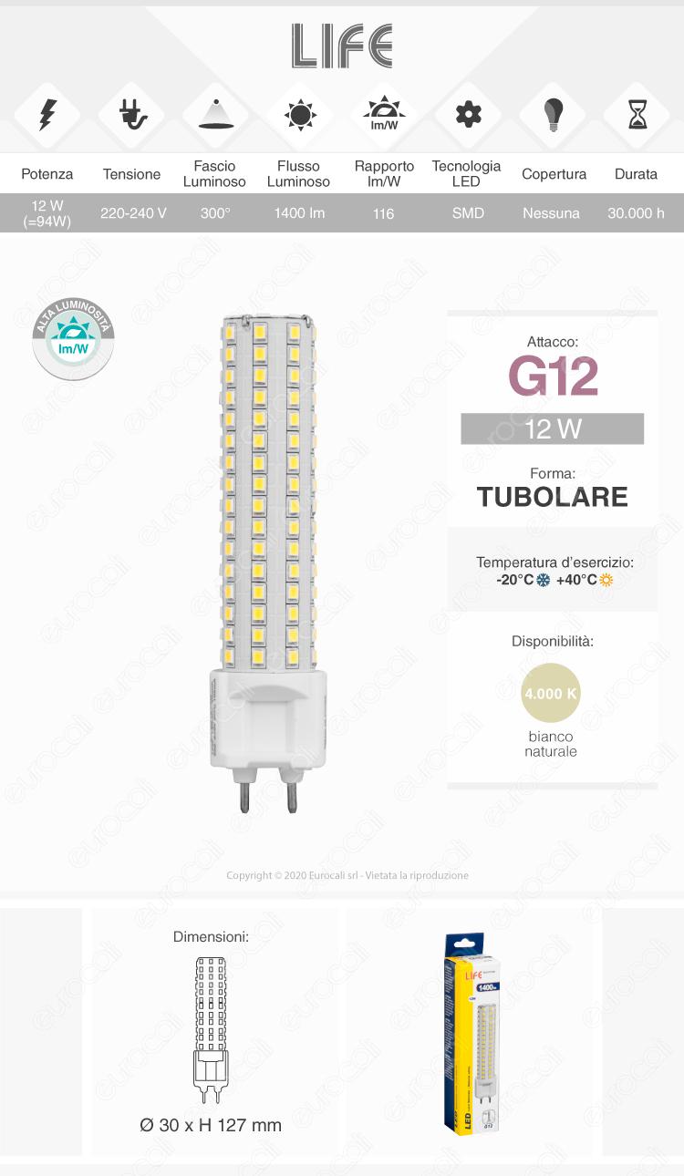 lampada led g12 life