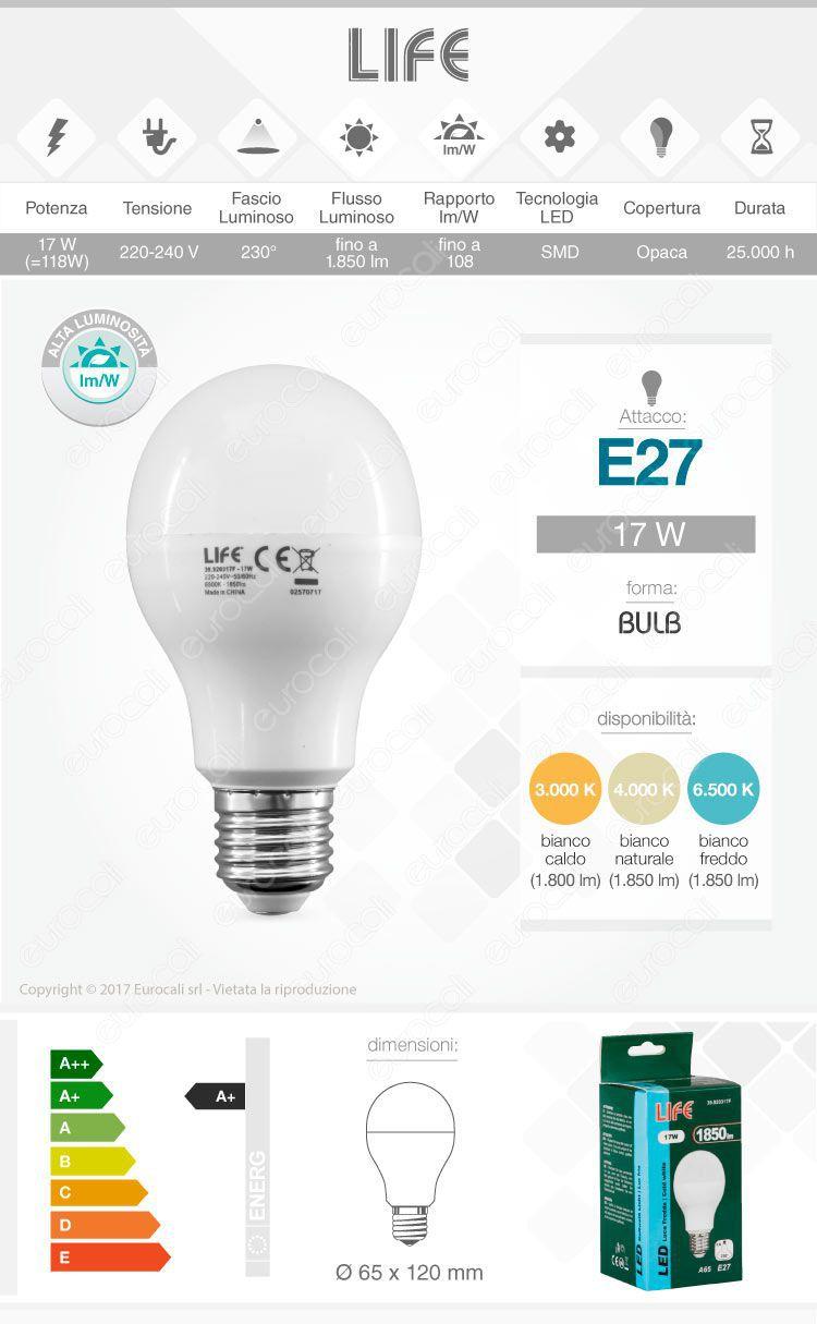 Life Lampadina LED E27