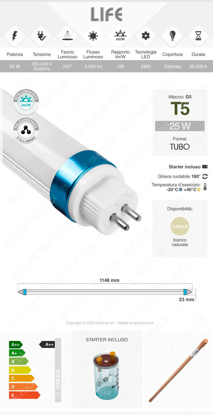 Tubo led t5 g5 life