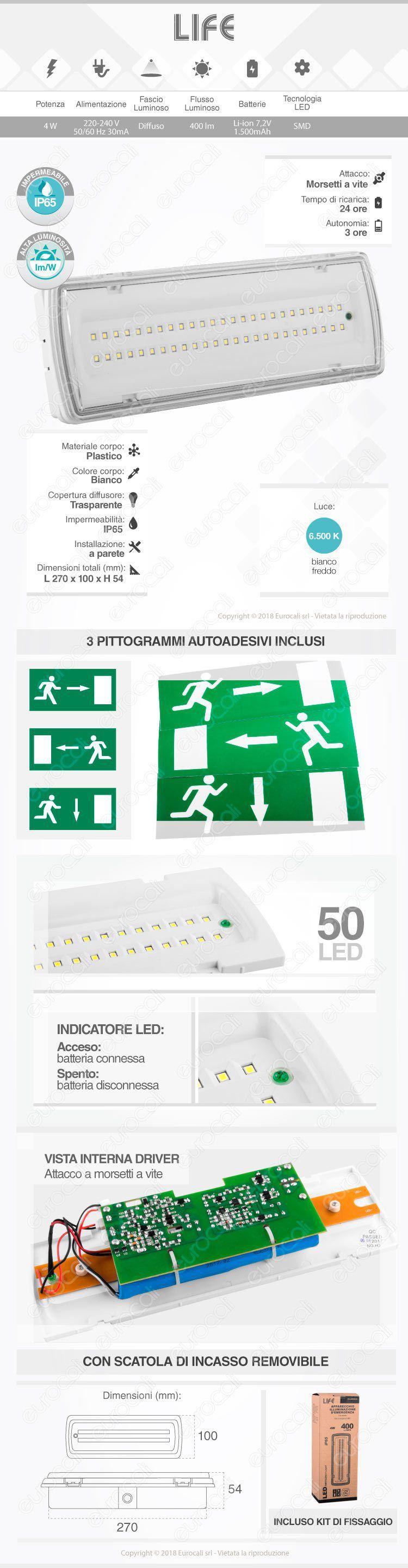 velamp lampada d'emergenza