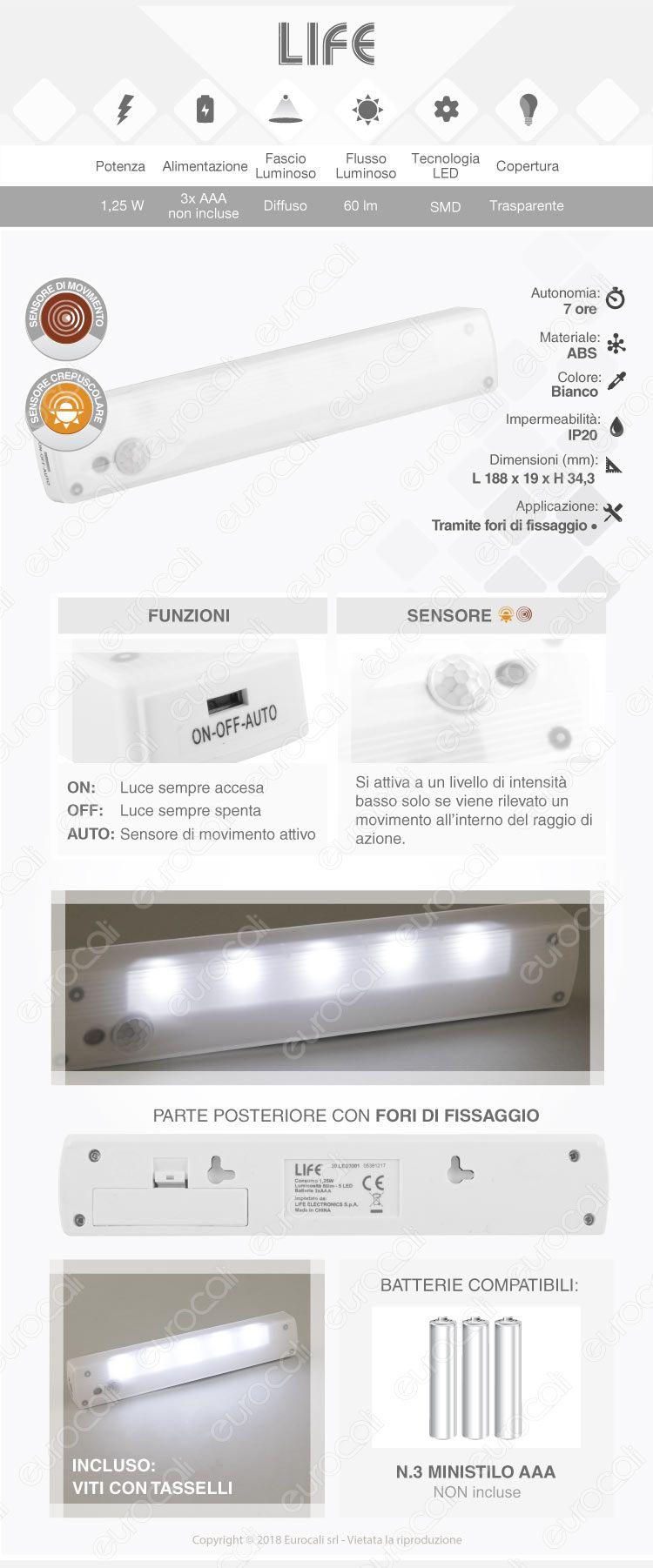 velamp luce led con sensore