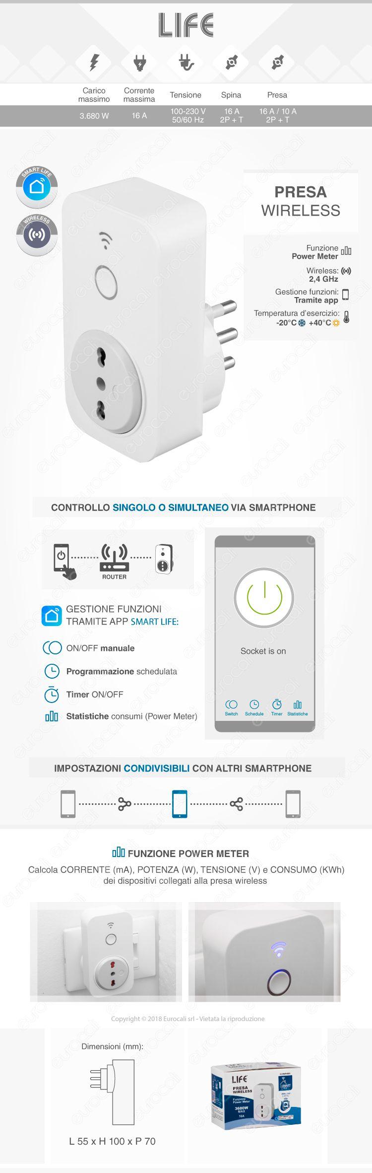life smart life presa wireless 16a+t