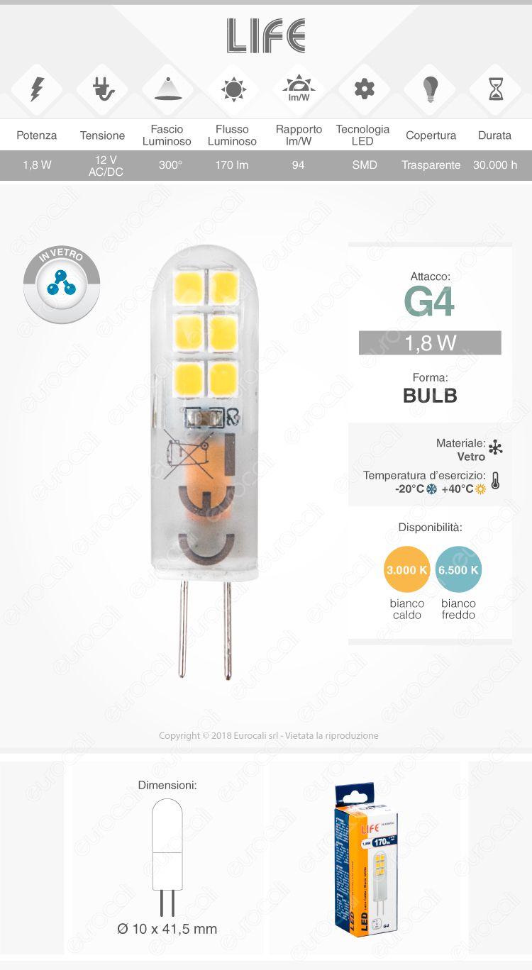 Life Lampadina LED G4