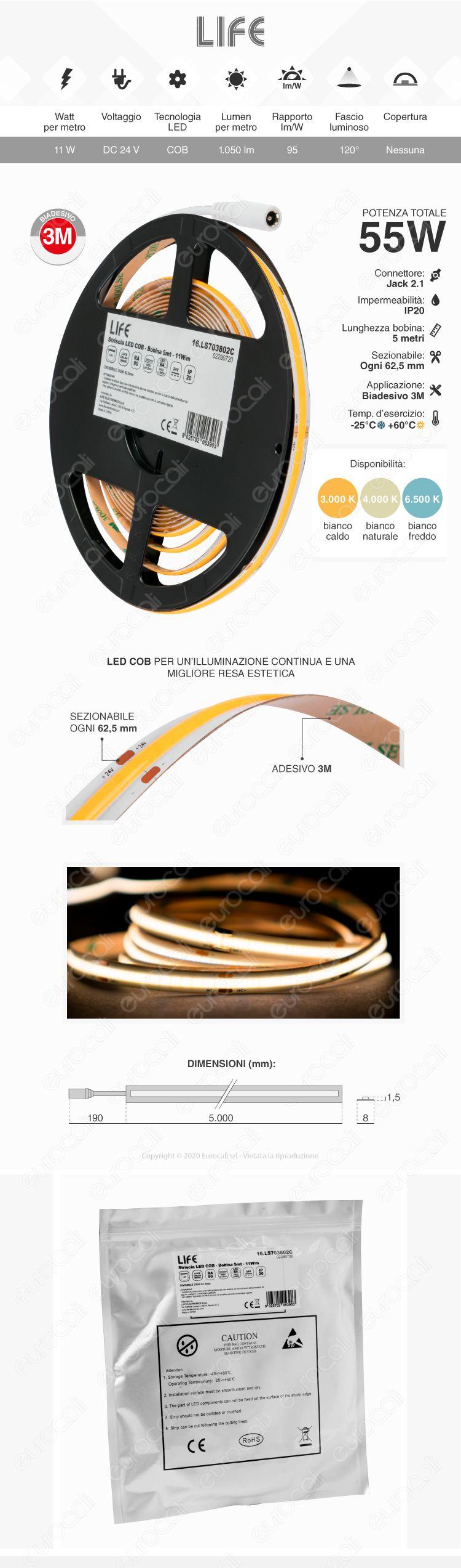 Silvanylux Striscia LED COB