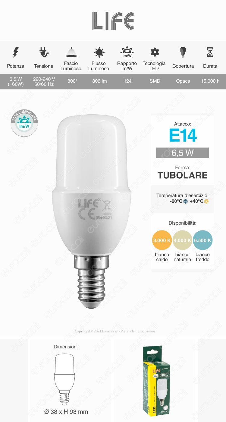 Life Lampadina LED E14 T38 6,5W