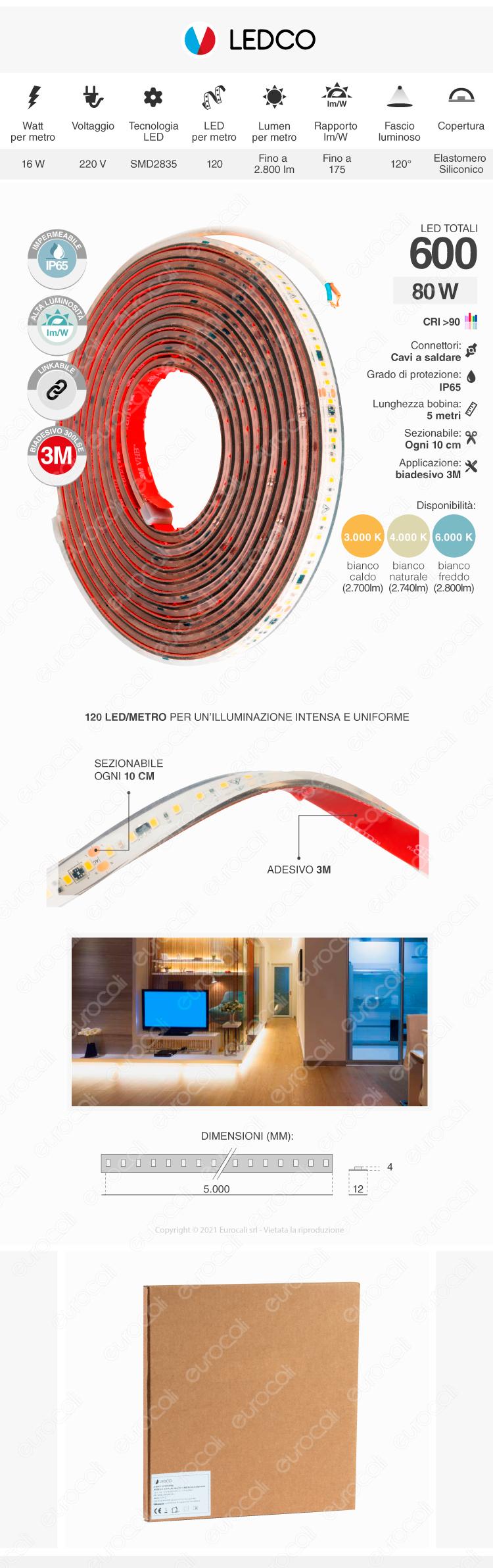 Strisca Led Ledco SLP220LBN65