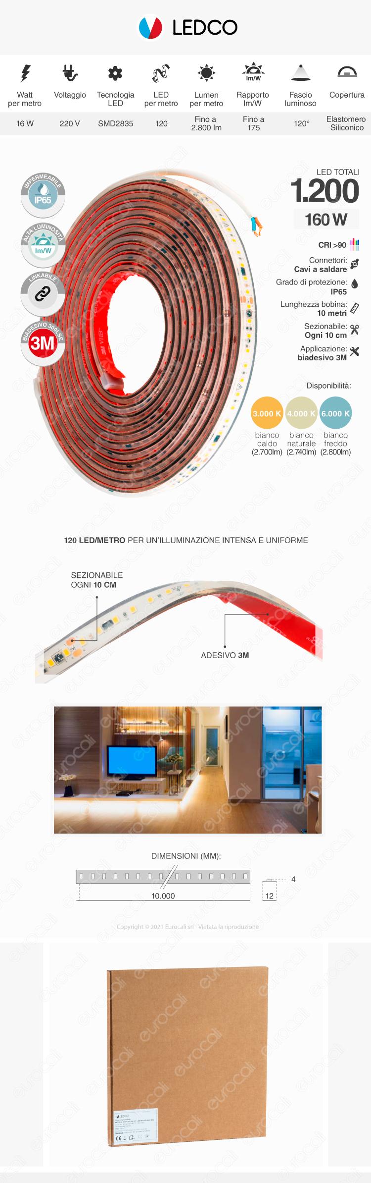 Strisca Led Ledco SLP220LBN65/10