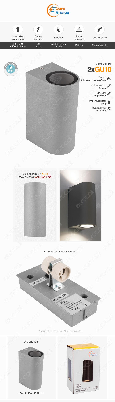 Sure Energy Wall Lamp 2x GU10