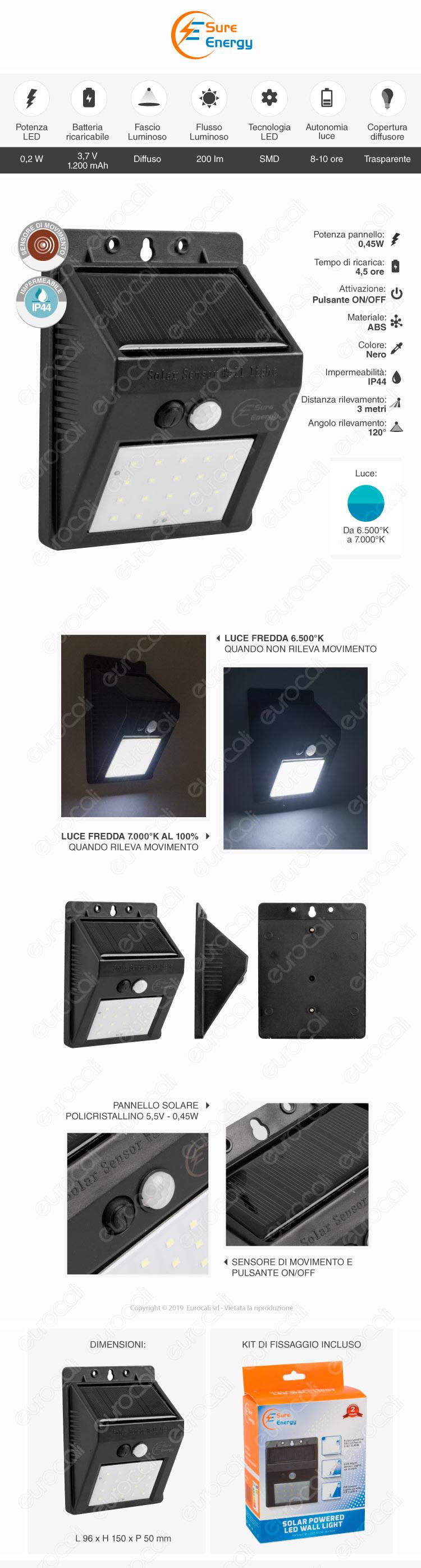 Ener-J Solar LED Wall Light