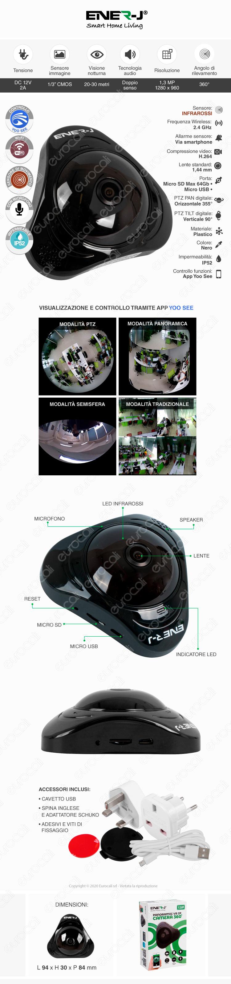 Ener-J Telecamera di Sorveglianza Wireless
