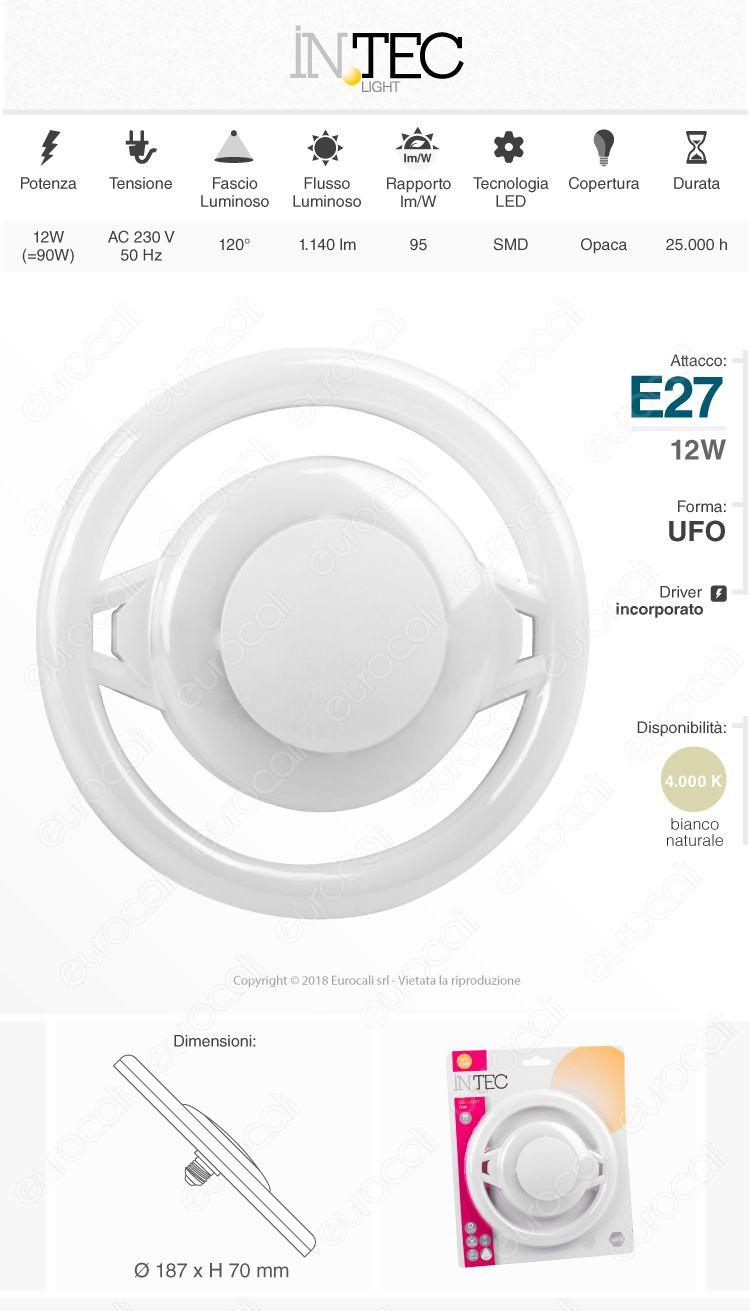 Fan Europe Intec Light Lampadina LED GU10 9W Faretto Spotlight - mod. KLASSIC-GU10-9C / KLASSIC-GU10-9M / KLASSIC-GU10-9F