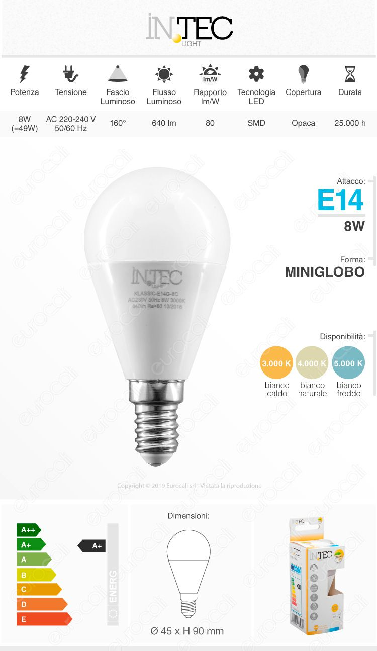 fan europe intec light Lampadina LED E14