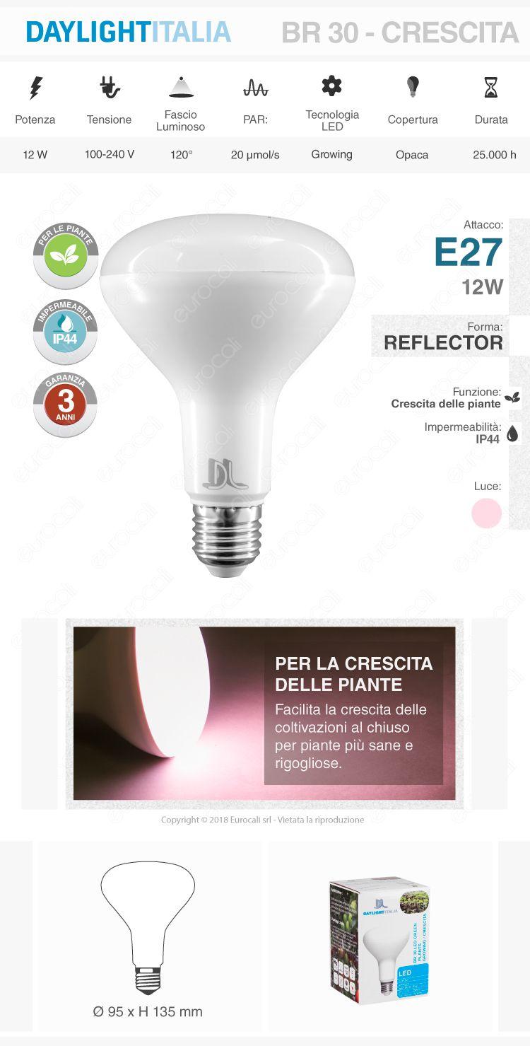 Daylight e27 par lamp vegetativa
