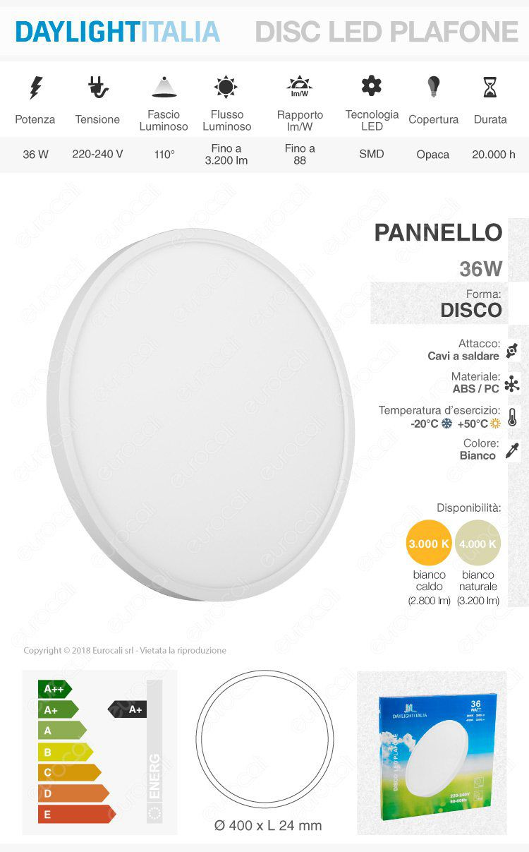 Pannello LED Daylight