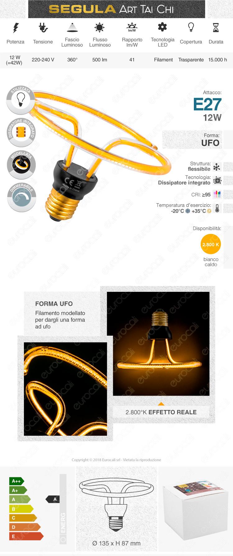 Segula Art Line Lampadina E27 Dimmerabile mod. 50161