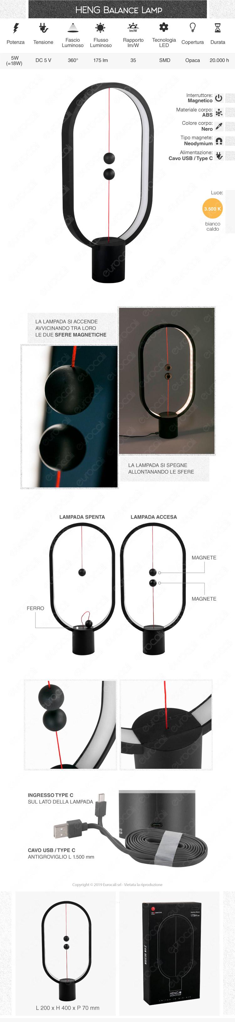 Heng Balance Lampada da Tavolo LED