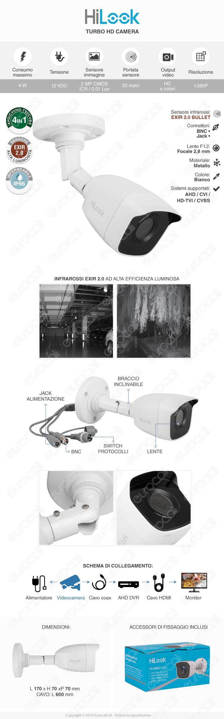 V-Tac VT-5135 Telecamera di Sorveglianza 1080p IP65