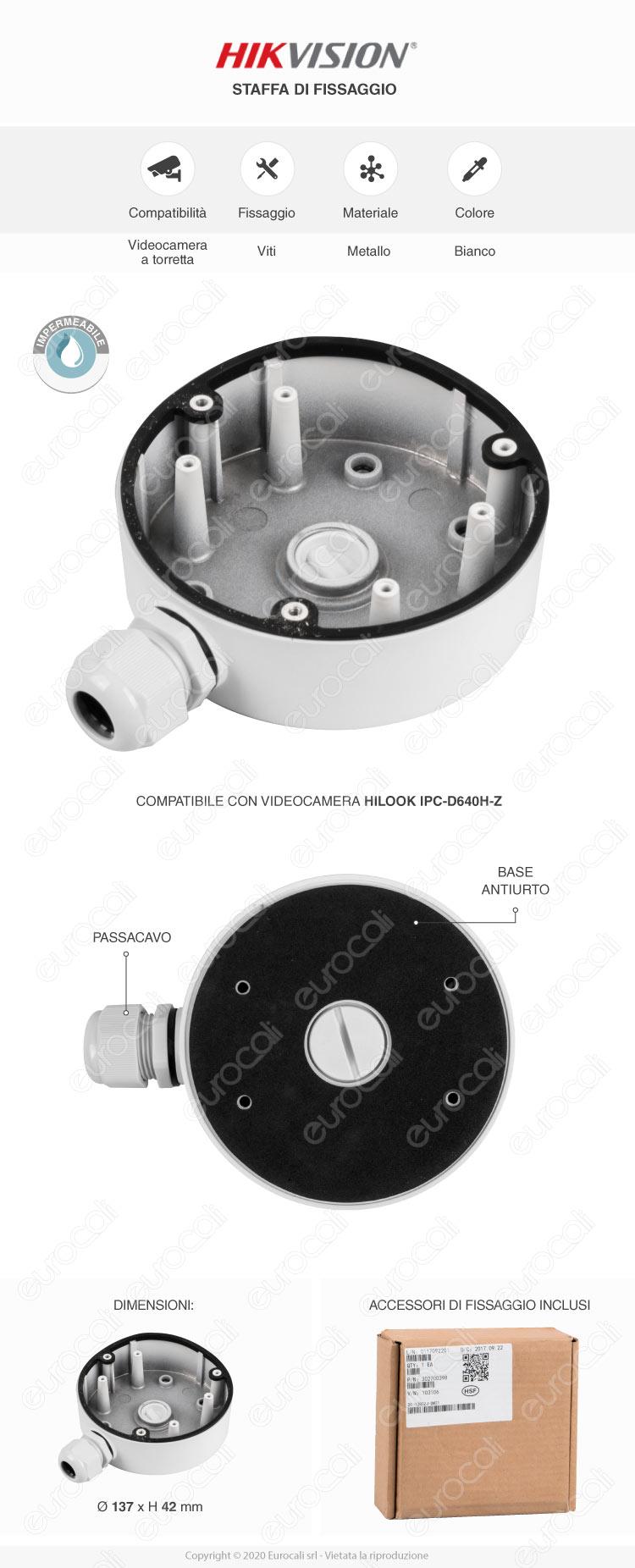 HiLook Telecamera IP di Sorveglianza 1080p IP67