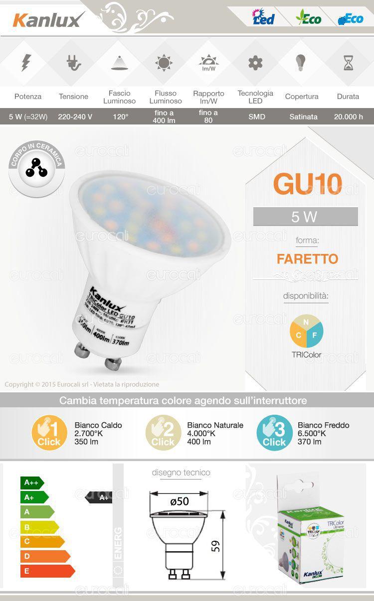 kanlux tricolor gu10