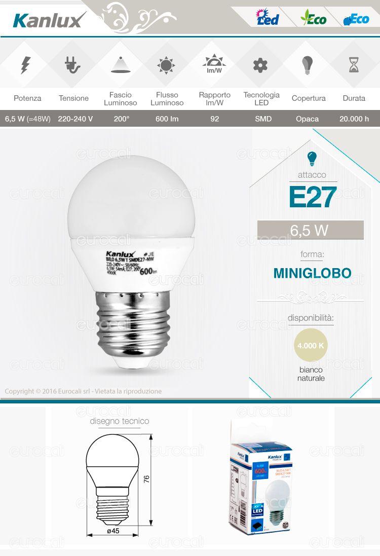 Kanlux Lampadina LED E27