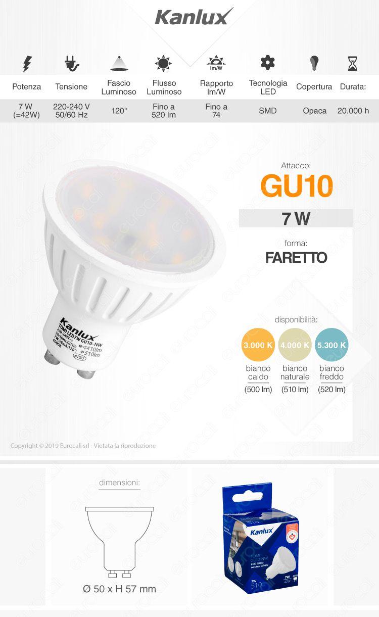 Lampadina LED Kanlux Gu10