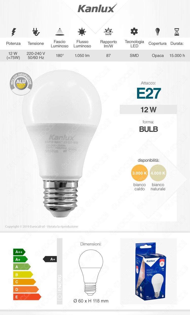 Lampadina LED Kanlux E27