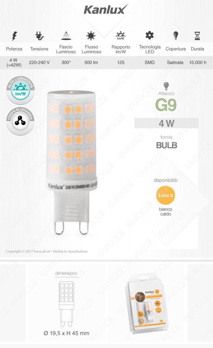 Kanlux Lampadina LED g9