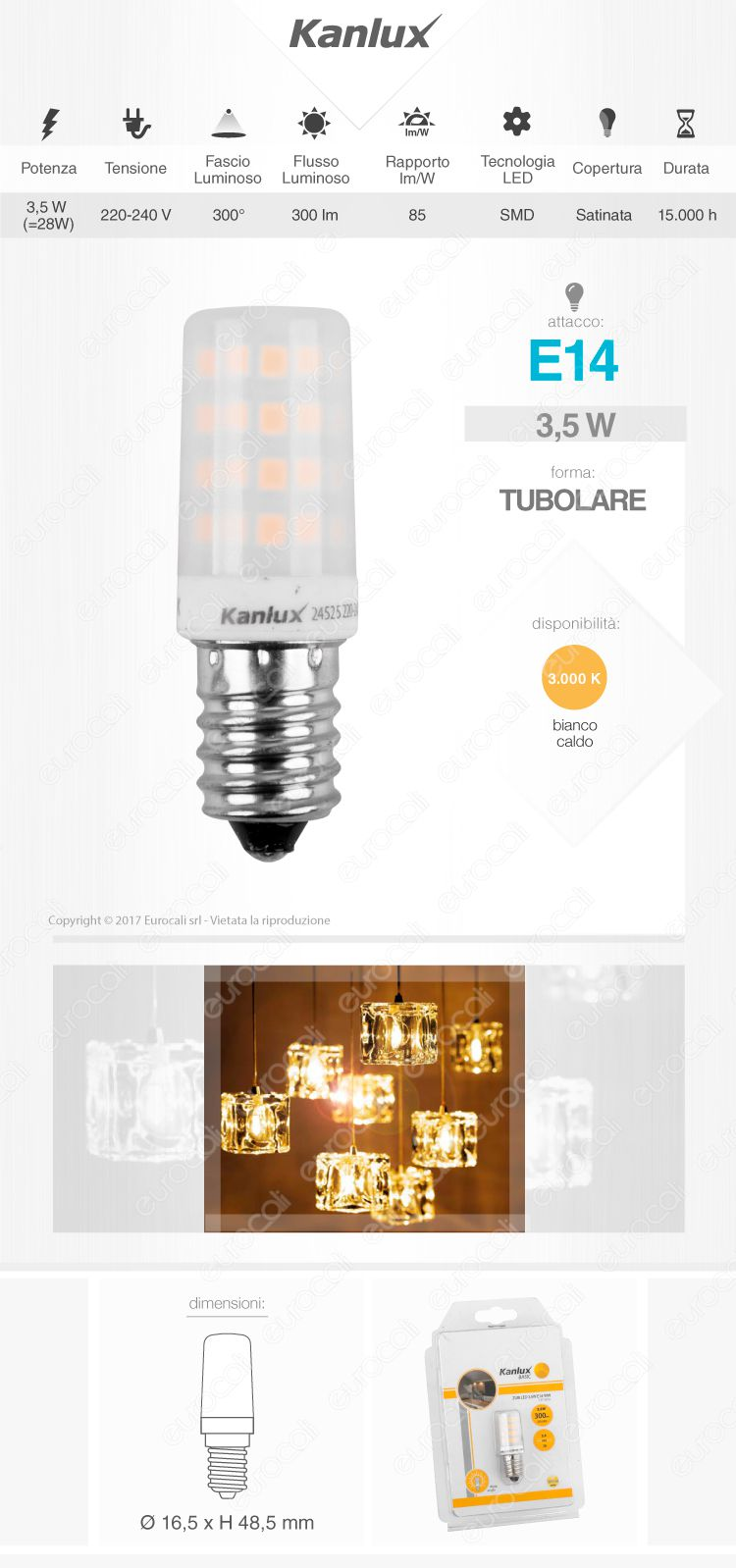 kanlux Lampadina LED E14