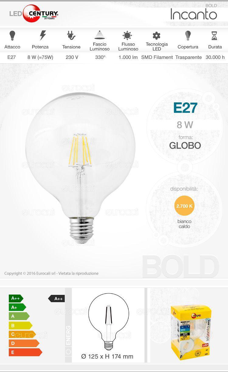 lampada led e27 century