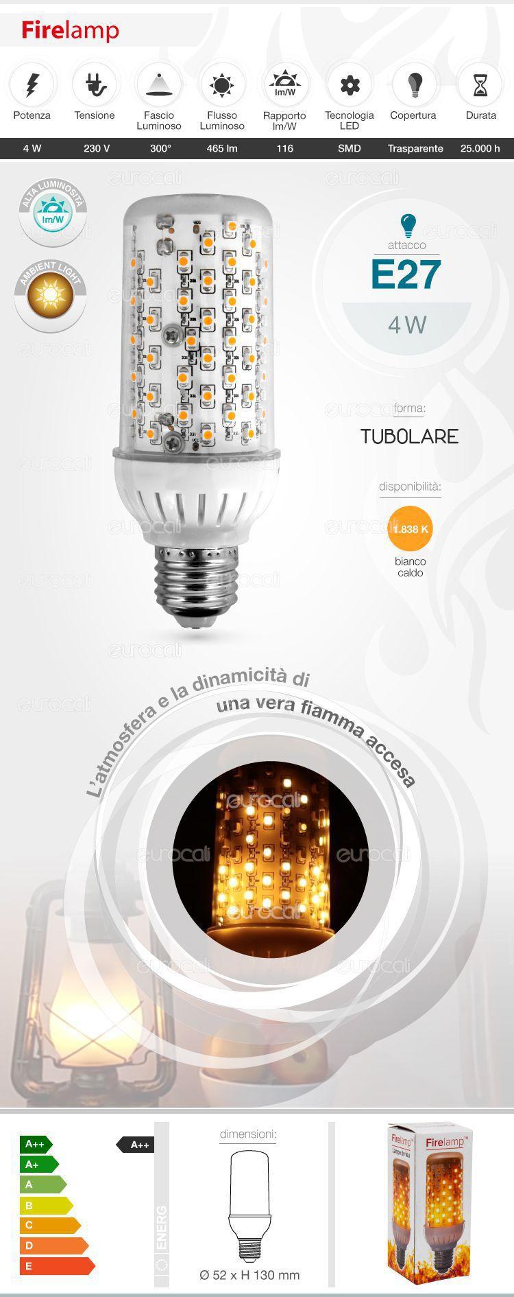 Lampadina LED Bulb Firelamp E27
