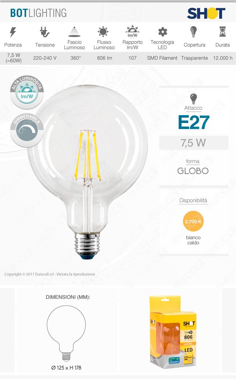 Lampadina LED filamento Bot Lighting E27