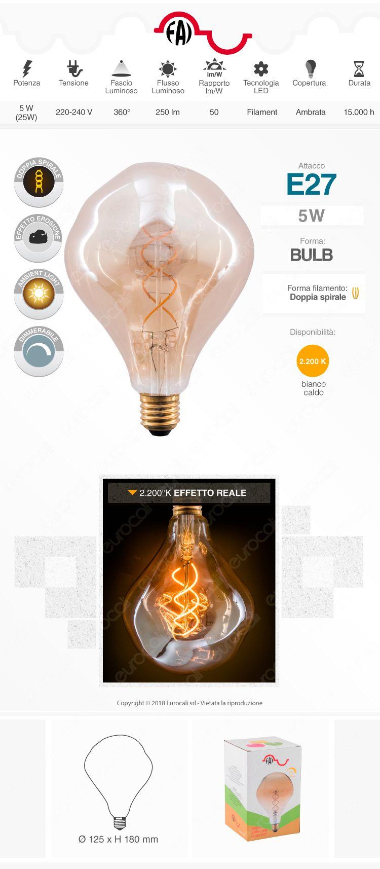 lampada led e27 FAI