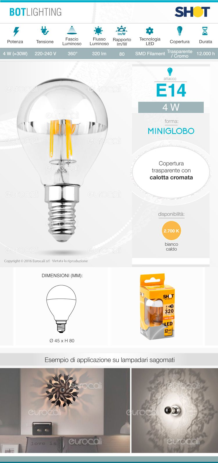 lampada led e14 bot lighting